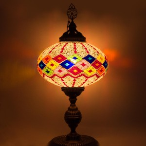 Lampa mozaikowa stojąca duża - wys. 67 cm - Color Diamonds